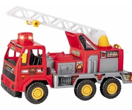 Caminhão Bombeiro Fire Som Sirene 5042  Grande - Magic Toys