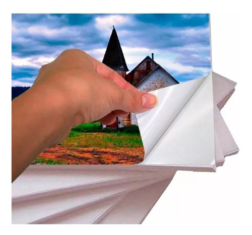 100 Folhas Papel Foto Glossy Adesivo À Prova D'água A4 115g