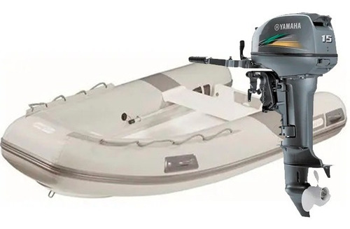 Bote Inflável Zefir Wind F300 + Motor Yamaha 15hp 2t