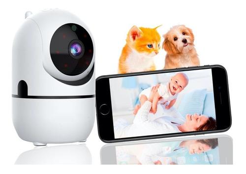 Babá Eletrônica Câmera Sem Fio Wifi Visão Noturna Microfone