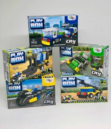 Blocos De Montar Kit C/5 Oferta City Lego Blocks Crianças.
