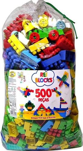 Blocos De Montar Reiblocks 500 Peças Monte Fácil Reibrink