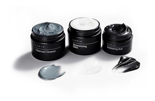 Limpiador Facial Carbónico, Bálsamo Hidratante Y Exfoliante