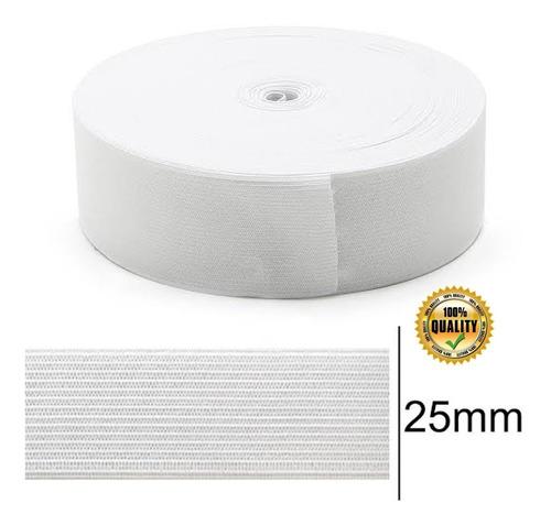Elástico 2,5 Cm Branco Zanotti Jaraguá Rolo Com 25 Metros
