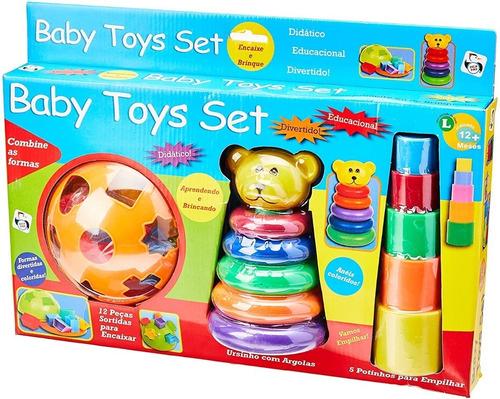 Brinquedo Baby Toys Set Educativo Didático Diversão Bebe