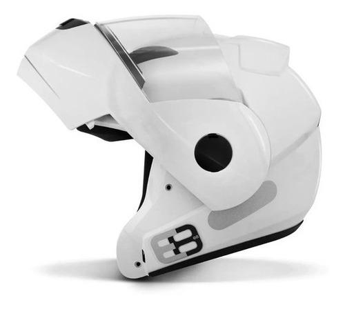 Capacete Articulado Masculino Ebf E8 Solid Branco Robocop