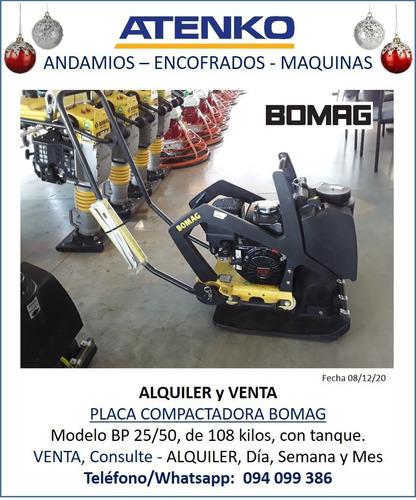 Alquiler Placa Compactadora / Placa Vibradora Bomag