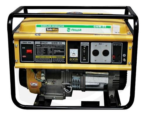 Generador Portátil Niwa Gnw-55 5500w Monofásico Con Tecnología Avr 220v
