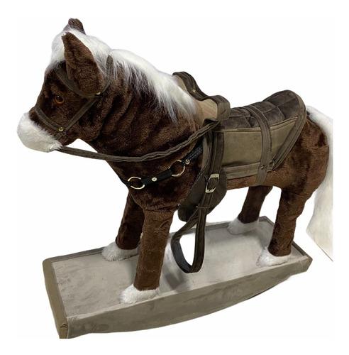 Cavalinho Poney Cavalo Pelúcia  Flexivel Mexe O Pescoço