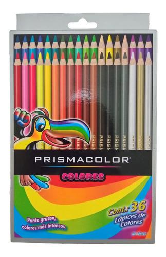 Creyones De Madera Prismacolor 36 Colores Caja De Cartón