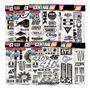 Cartela 154 Adesivos Fogão Ps3 Ps4 LG Preto