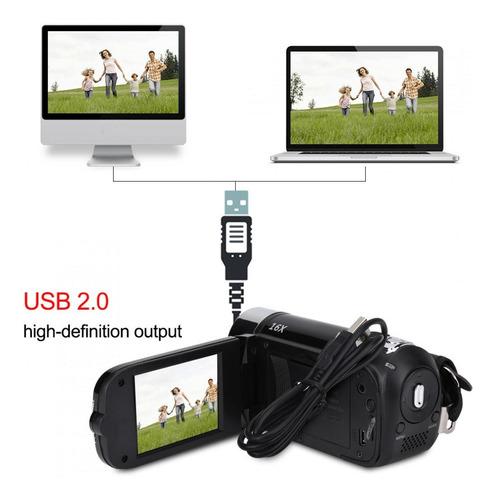 Full Hd 270° Rotação 1080p 16x Digital Filmadora Vídeo Dv
