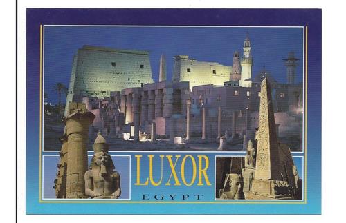 Postal De Luxor Egipto Templo De Ramses Ii , Coleccionistas