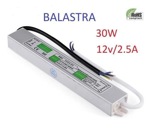 Balastra Fuente De Poder 12v/30w/2.5a Ext. Transformador Led