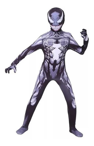 Fantasia Infantil Venom Cosplay Homem Aranha