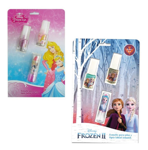 Esmaltes + Lapiz Labial Princesa Frozen  Teoytino Gus