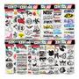 Cartela 115 Adesivos Motocross Psvita Gameboy Kit M1