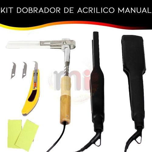 Prancha Dobradora Acrílico Manual 4pçs Confecções