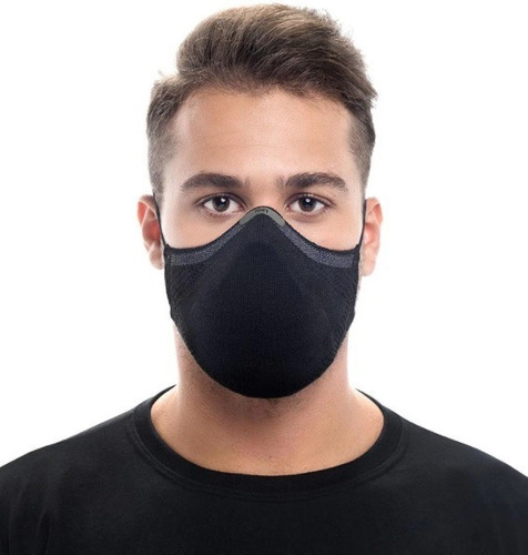 Máscara Knit Max95 Antiviral + 15 Filtros Esporte Corrida