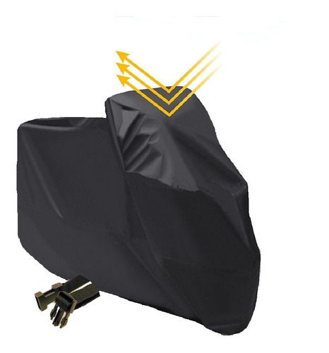 Capa Para Moto Forrada Impermeável Térmica Sol Chuva