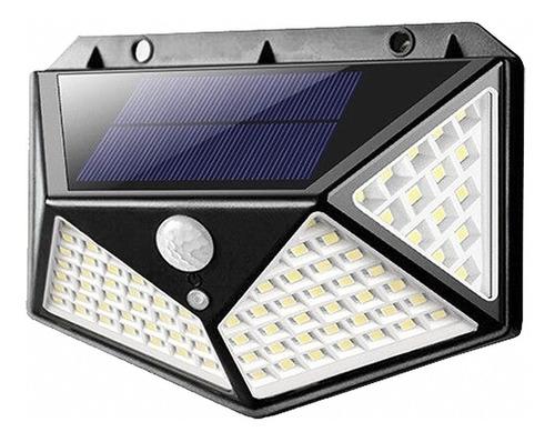 Luminária Solar 100 Led Com Sensor De Presença A Prova Dágua
