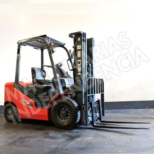 Autoelevador Heli 2500 Kg Diesel Isuzu Cpcd25 Serie H Nuevo