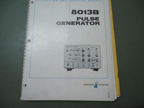 Hp 8013 - Manual Original Gerador De Pulso - Hewlett Packard