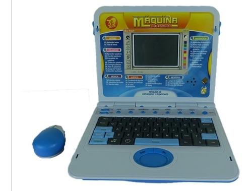 Computador Didáctico De Juguete Para Niños Azul