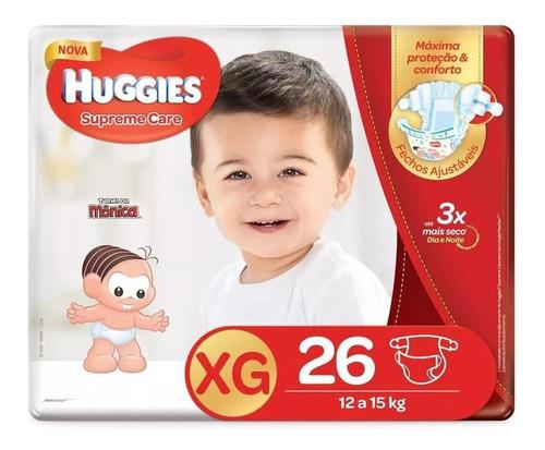 Fralda Huggies Xg Supreme Care Mega 26 Unidades