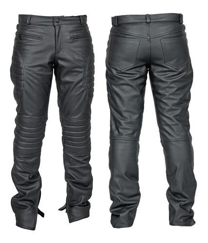 Calça De Couro Tipo Jeans, Masc. Motociclismo E Casual Cl02