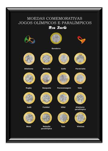 Quadro Porta Coleção Moedas Das Olimpíadas Jogos Olimpicos