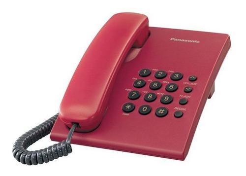 Teléfono Fijo Panasonic Kx-ts500 Rojo