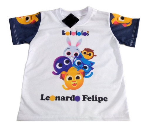 Camiseta Infantil Bolofofos Personalizada Temas