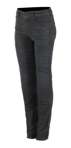 Calça Alpinestars Feminina Jeans Proteção Daisy V2 Preta