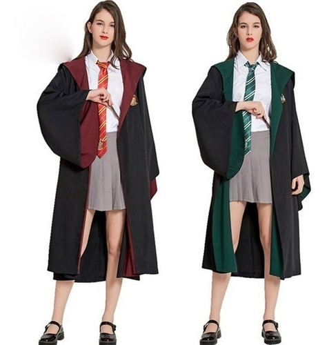 Combo Manto Capa Hermione + Saia + Gravata Fantasia Cosplay