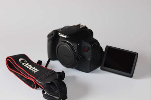 Câmera Cânon T5i Corpo Com 2 Baterias E Carregador