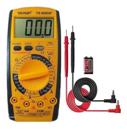 Tester Multimetro Digital Yaxun Yx-9205a+