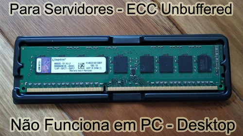 Memória 8gb Ddr3 Pc3-12800e Udimm P/ Server Dell Hp Ibm