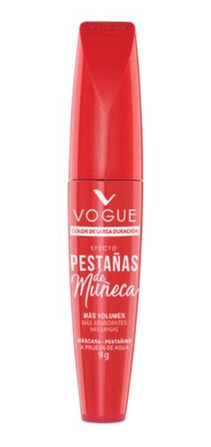 Máscara De Pestañas Vogue Pestañas De Muñeca Color Negro 9g