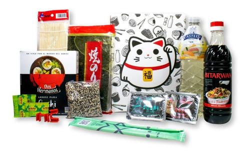 Kit Sushi Pareja + Alga + Arroz +  Wasabi + 11 Productos