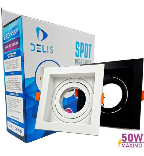 Spot Led Embutir Par20 Premium Quadrado Direcionável - Delis