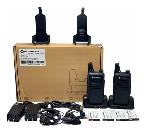 Radio De Comunicación Motorola C1 + 2 Manos Libres