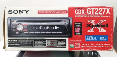 Sony Cdx- Gt 227x Xplod ( S/ A Frente , Só Parte Trás ) Novo Original