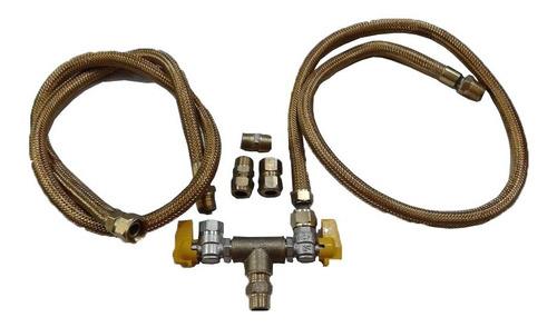 Kit Flexível Cooktop E Forno Para Gas Encanado C/2,5 Mt Original