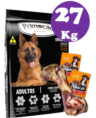 Primocao Original Adulto 20+8kg+ Hueso Jamon Serrano+ 2 Pate