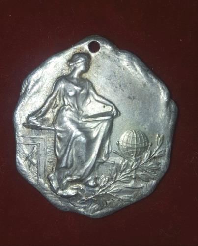 Medalla Antigua De Plata-rosario De La Frontera-(# 106)