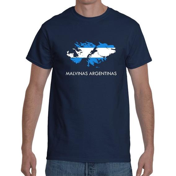 Remera Islas Malvinas Argentinas Homenaje Algodon Azul