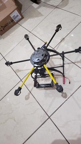 Hexacoptero Carbono 620mm Retrátil Frame Gimbal Drone Kit Rc