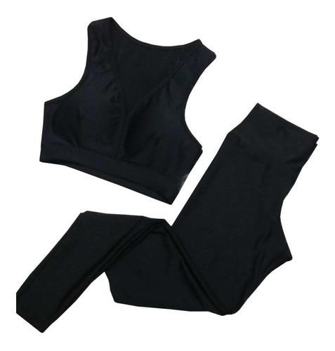 Conjunto Fitness De Academia Calça Legging + Top C Bojo