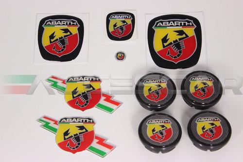 Kit Nº4 Adesivos Abarth P/ Fiat Grand Siena Original